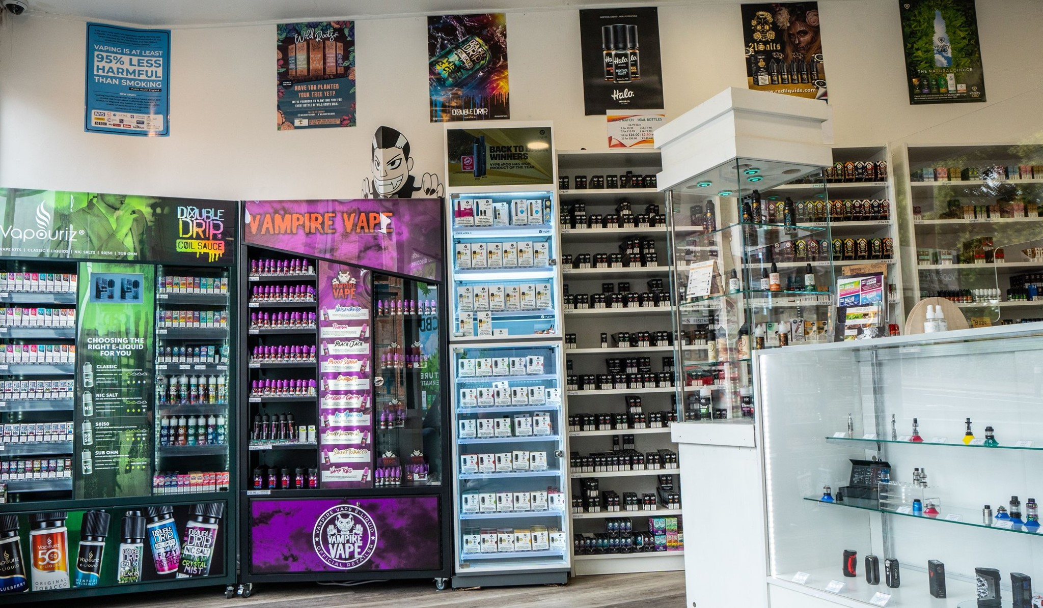 inside our Redditch vape shop